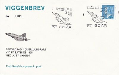 CC151) 1975 Tufted Letter - Promoted During Overseas Voyage CONCORDE