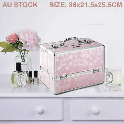 Professional Portable Beauty Case Makeup Cosmetics Box Carry Bag Organiser