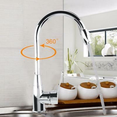 Rotating Single Handle Bathroom Faucet Sink Spraying Hot & Cold Water US