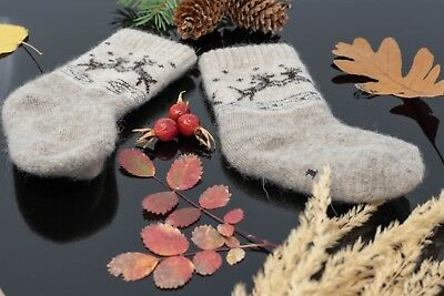 Kid`s Organic Wool Socks, 100% Organic Wool, Very Warm-Made In Mongolia