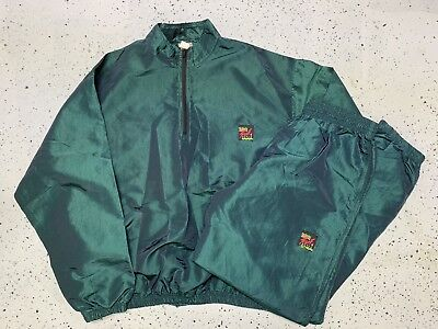 Vintage 80s Surf Style Windbreaker Track Suit Mens Size XL Surfing Fashion