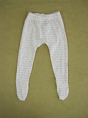 BONDS Baby Luxe Essentials Leggings Pants size 0000 Colour White Pink