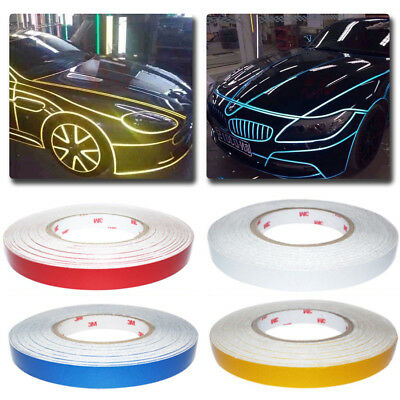 DIY Car Truck Body Reflective Stripe Sticker Tape Self Adhesive Decal 1cm Width