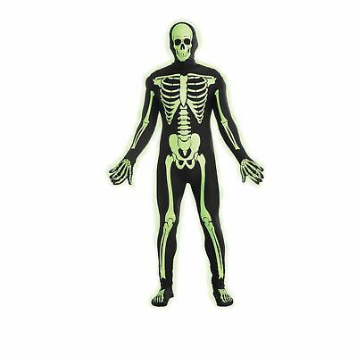 Disappearing Man Glow In The Dark Skeleton Teen Costume One Size