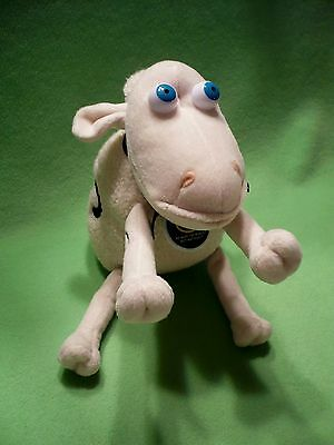 SERTA Sheep number 5 plush toy with blue eyes, blue boy and Serta tag. Exc cond.