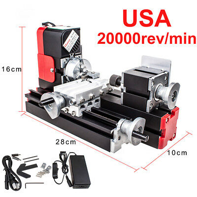 20000rev/min DC12V Woodwork Hobby Craft Lathe Machine Metal Motorized DIY Tool