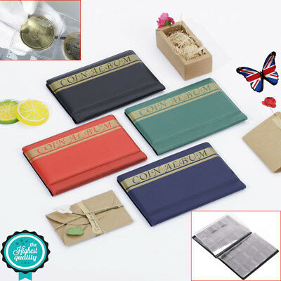 120 Album Coin Penny Money Storage Folder Holder Collection Book Case Gift New
