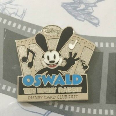 Disney JAPAN Oswald Pin Card Club Stand 2017 The Lucky Rabbit free shipping New