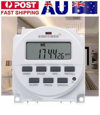 SINOTIMER DC 12V Digital LCD Power Programmable Timer Time Switch Relay 16A