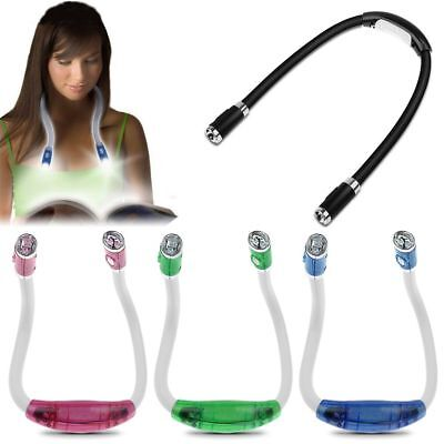 LED Flexible Neck Book Reading Light Torch Bright Night Portable Random Color