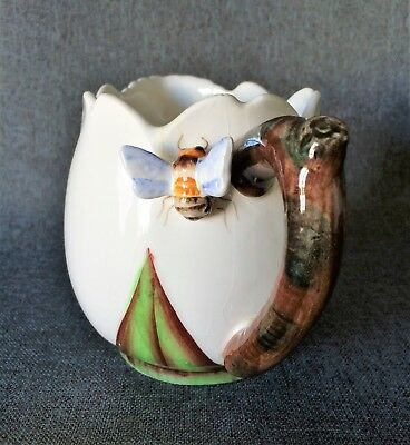 Vintage E.S.D. Japan Lefton Hand Painted Bumble Bee Pitcher or Large Creamer
