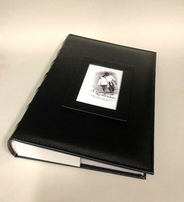 "Photo Album 300 Slip In Photos 6"" x 4"" With Memo Acid Free Black"