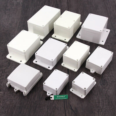 10 Select ABS Plastic Box with Mounting Flanges for Electronics Hobby Projects