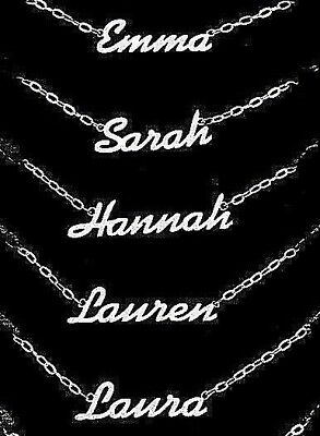 Personalised Steel Name Necklace Bracelet Nameplate Pendant Ankle Chain