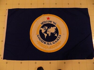 Goodwill Games '86 Moscow Flag 5' x 3'