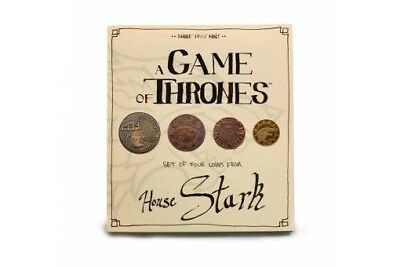 """A GAME OF THRONES """"HOUSE STARK"""" Set of 4 coins ~ Shire Post Mint ~ GM-ST-HS4"""