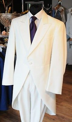Mj-146A. Mens Ivory Morning Tails Two Piece Suit Wedding/evening/event/formal
