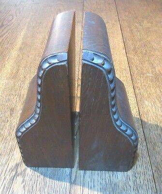 Antique Edwardian Mahogany Wooden  Bookends