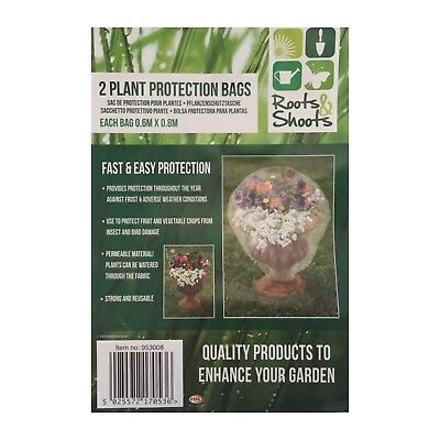 4 x Frost Plant Protection Bags Fleece Winter Cover Plants Garden Shrubs
