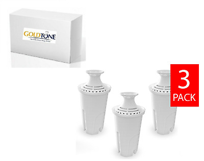 GoldTone Water Filters fits Brita and Mavea Water Pitchers. [3 PACK]