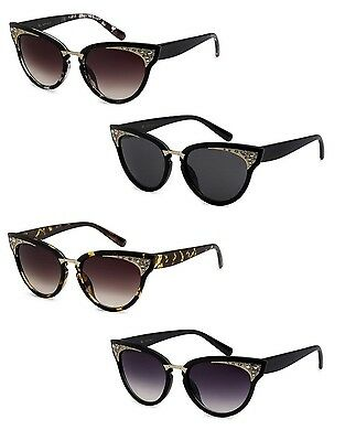 9c9b84c7e66d Cat Eye Sunglasses Black Frame Retro Sexy Cool Design With Rhinestones  Sunnies.