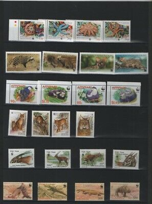 WWF Thematic stamp collection all mint 59 stamps in total see listing for detail