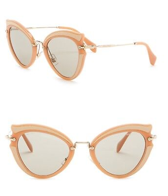 f2400d533d6 Miu Miu Butterfly 52mm Acetate Frame Sunglasses Rose Made in Italy W Case n  Gift