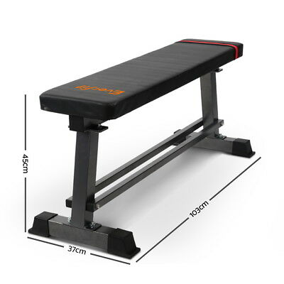 Fitness Flat Bench Weight Press Gym Home Strength Training Work Out Exercise New