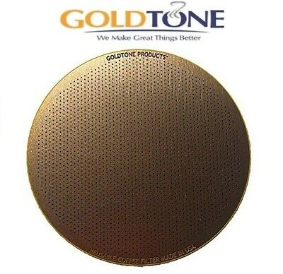 GoldTone Reusable Disk Coffee Filter for Aeropress Coffee and Espresso Makers