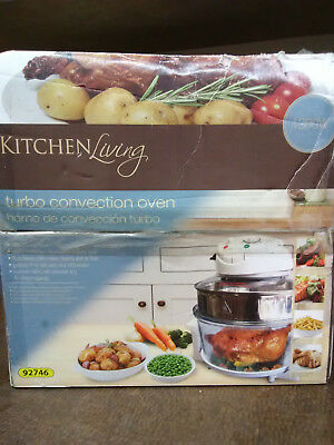 NEW IN BOX   KITCHEN LIVING Turbo Convection Oven Model #92746