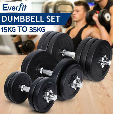 15-35KG Dumbbell Set Weight Dumbbells Plates Adjustabe Home Gym Fitness Exercise