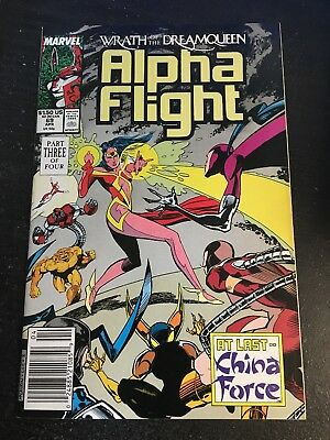 Alpha Flight#69 Incredible Condition 9.4(1989) China Force
