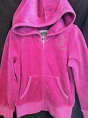 Juicy Couture Children Kids Girls Purple/Fuchsia Zip-Up Hoodie!!! Size Small