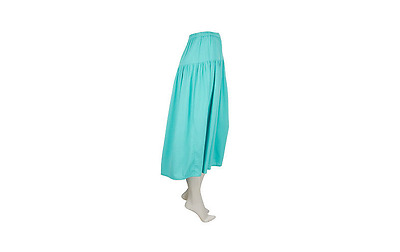 Linea by Louis DellOlio large blue Pull on Boho Skirt new