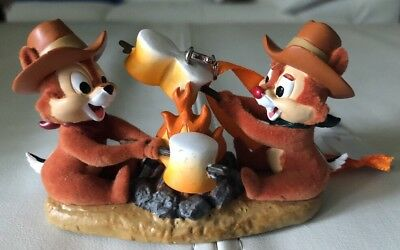 Disney Parks Chip 'n Dale Roasting Marshmallows Christmas Ornament New