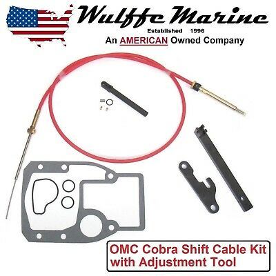OMC Cobra Shift Cable Kit with Adjustment Tools, Gasket 1986-1993 18-2245 987661
