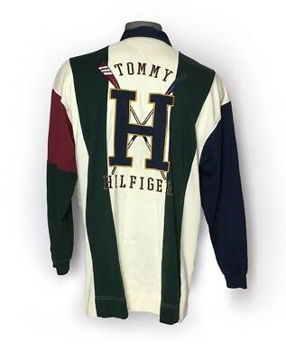 Vintage Tommy Hilfiger Sailing Gear Spell Out Polo Shirt - Mens XL