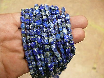 (eH7342B) Lapis Lazuli  strand 7 inch (17,5 cm) Hand Carved  beads  Old Stoc
