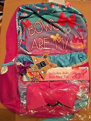 """JoJo Siwa Dance 16"""" Bling with Bow School Backpack Bows Are My Super Power"""