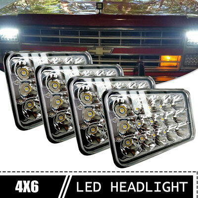 4X6 inch LED Rectangular Hi/Lo Sealed Beam Headlight 4pcs For Peterbilt 357 378