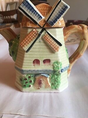 Vintage Rare Windmill Teapot- Made in Japan