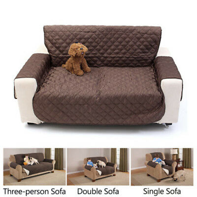 Waterproof Couch Sofa Furniture Protector Cover Pet Quilted Reversible Slipcover