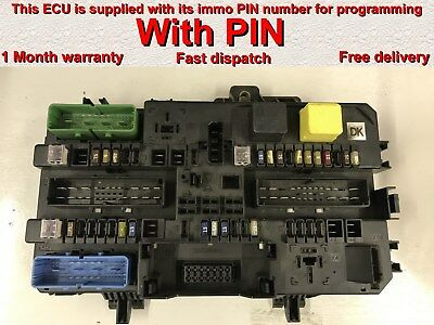 opel vauxhall astra h rec rear fusebox 13145021 ch *with pin* or opel astra  astra h fuse box problem