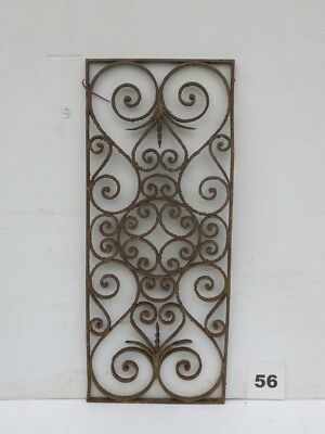 Antique Egyptian Architectural Wrought Iron Panel Grate (IS-056)