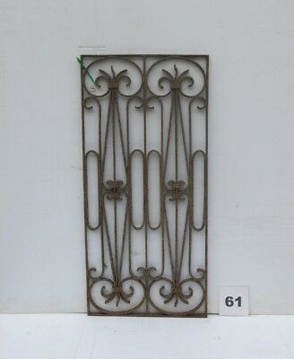 Antique Egyptian Architectural Wrought Iron Panel Grate (IS-061)