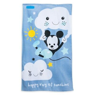 Disney Mickey Mouse Blue Swim Beach Towel for Baby New