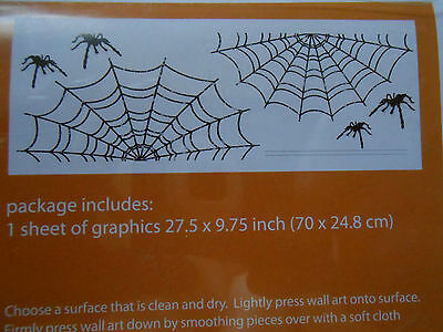 Halloween Wall Art Spiders and Web For Walls Mirrors and More New