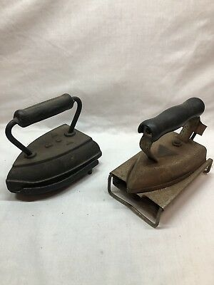 Vintage Clothing Flat Irons..Griswold Iron Trivet