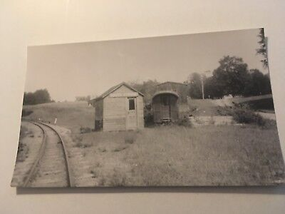 Vintage photo Sandy River & Rangeley Lines Railroad station South Strong ME