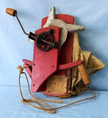 Vintage Broadcast Seed Sower Montgomery Ward Hand Crank Seed Spreader